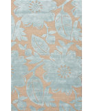 RugStudio presents Jaipur Rugs Blue Bouquet Bl119 Tan & Light Turquoise Hand-Tufted, Good Quality Area Rug