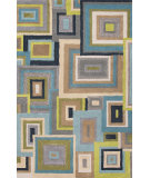 RugStudio presents Jaipur Rugs Blue Frame Work Bl121 Antique White Hand-Tufted, Good Quality Area Rug