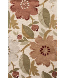 RugStudio presents Jaipur Rugs Blue Bouquet Bl129 Antique White Hand-Tufted, Good Quality Area Rug