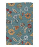 RugStudio presents Jaipur Rugs Blue Garden Party Bl131 Peacock Blue/Marigold Hand-Tufted, Good Quality Area Rug