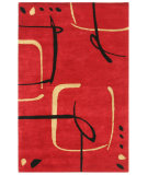 RugStudio presents Jaipur Rugs Blue Scribble Down BL26 Ribbon Red/Ribbon Red Hand-Tufted, Better Quality Area Rug