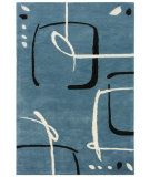 RugStudio presents Jaipur Rugs Blue Scribble Down BL28 Aegean Blue/Aegean Blue Hand-Tufted, Better Quality Area Rug