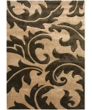RugStudio presents Jaipur Rugs Blue Aloha BL34 Tan/Deep Charcoal Hand-Tufted, Good Quality Area Rug