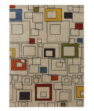 RugStudio presents Jaipur Rugs Blue Square Deal BL55 Wasabi/Multi Hand-Tufted, Better Quality Area Rug