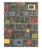 RugStudio presents Jaipur Rugs Blue Square Deal BL56 Liquorice/Liquorice Hand-Tufted, Better Quality Area Rug