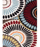 RugStudio presents Rugstudio Sample Sale 74773R Ebony / Antique White Hand-Tufted, Good Quality Area Rug