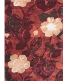 RugStudio presents Jaipur Rugs Blue Petal Pusher Bl64 Navajo Red Hand-Tufted, Good Quality Area Rug