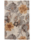 RugStudio presents Jaipur Rugs Blue Petal Pusher Bl65 White / Nickel Hand-Tufted, Good Quality Area Rug