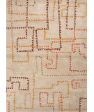 RugStudio presents Jaipur Rugs Blue Block Party Bl79 Linen Hand-Tufted, Good Quality Area Rug