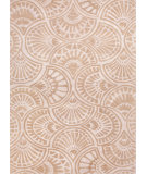 RugStudio presents Jaipur Rugs Blue Fan Dance Bl80 Antique White / Beige Hand-Tufted, Good Quality Area Rug