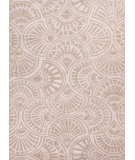 RugStudio presents Jaipur Rugs Blue Fan Dance Bl81 Antique White / Fog Hand-Tufted, Good Quality Area Rug