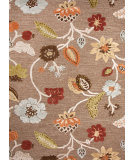 RugStudio presents Jaipur Rugs Blue Garden Party Bl84 Gray Brown Hand-Tufted, Good Quality Area Rug
