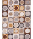 RugStudio presents Jaipur Rugs Blue Connect The Dots Bl95 White / Nickel Hand-Tufted, Good Quality Area Rug