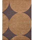 RugStudio presents Jaipur Rugs Blue Circle Circle Dot Bl96 Black Coffee / Brass Hand-Tufted, Good Quality Area Rug
