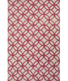 RugStudio presents Jaipur Rugs Blithe Latticework Blt04 Fuschia/Beige Hand-Tufted, Good Quality Area Rug