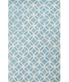RugStudio presents Jaipur Rugs Blithe Latticework Blt06 Turquoise/Pink Hand-Tufted, Good Quality Area Rug
