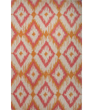 RugStudio presents Jaipur Rugs Blithe Argyle Ikat Blt09 Orange/Beige Hand-Tufted, Good Quality Area Rug