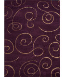 RugStudio presents Rugstudio Sample Sale 74739R Tulip Purple Hand-Tufted, Good Quality Area Rug