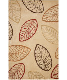 RugStudio presents Jaipur Rugs Brio Autumn Leaves Br21 Amber Gold Hand-Hooked Area Rug