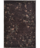 RugStudio presents Rugstudio Sample Sale 61977R Deep Charcoal/Deep Charcoal Hand-Hooked Area Rug