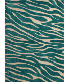 RugStudio presents Jaipur Rugs Brio Animal Magnetism Br27 Smoke Blue Hand-Hooked Area Rug