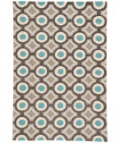 RugStudio presents Rugstudio Sample Sale 74801R Deep Charcoal / Aegean Blue Hand-Hooked Area Rug