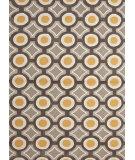 RugStudio presents Rugstudio Sample Sale 74802R Deep Charcoal / Amber Gold Hand-Hooked Area Rug