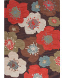 RugStudio presents Jaipur Rugs Brio Poppy Field Br40 Coffee Hand-Hooked Area Rug