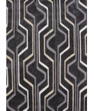 RugStudio presents Jaipur Rugs Brio Mod World Br42 Liquorice Hand-Hooked Area Rug