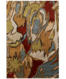 RugStudio presents Jaipur Rugs Blue Brushstroke Bl54 Dark Amber Gold Hand-Tufted, Better Quality Area Rug