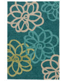 RugStudio presents Jaipur Rugs Catalina Blossomed Cat08 Blue Hand-Hooked Area Rug