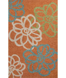 RugStudio presents Jaipur Rugs Catalina Blossomed Cat09 Orange Hand-Hooked Area Rug