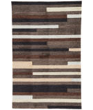 RugStudio presents Jaipur Rugs Catalina Offset Lines Cat10 Gray Hand-Hooked Area Rug