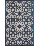 RugStudio presents Jaipur Rugs Catalina Mosiac Trellis Cat11 Blue Hand-Hooked Area Rug