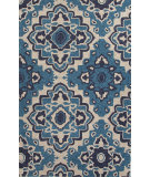 RugStudio presents Jaipur Rugs Catalina Medallion Cat16 Blue Hand-Hooked Area Rug