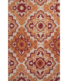 RugStudio presents Jaipur Rugs Catalina Medallion Cat18 Orange Hand-Hooked Area Rug