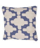 RugStudio presents Jaipur Rugs Cadiz Gadir Pillow Cd02 Natural / Denim Blue
