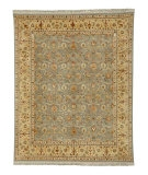 RugStudio presents Jaipur Rugs Aurora Celeste AR01 Medium Blue/Soft Gold Hand-Knotted, Good Quality Area Rug