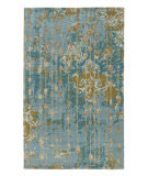 RugStudio presents Jaipur Rugs Connextion By Jenny Jones-Global Ruby Room Cg08 Light Turquoise Hand-Knotted, Good Quality Area Rug