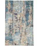 RugStudio presents Jaipur Rugs Connextion By Jenny Jones - Global Wasabi Cg14 Denim Blue Hand-Knotted, Good Quality Area Rug