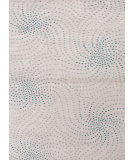 RugStudio presents Rugstudio Sample Sale 74846R White / Aqua Foam Hand-Tufted, Good Quality Area Rug