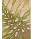 RugStudio presents Jaipur Rugs Coastal Living(r) Hand-Tufted Monstera Ch21 Soft Gold Hand-Tufted, Good Quality Area Rug