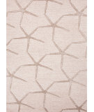 RugStudio presents Jaipur Rugs Coastal Living(r) Hand-Tufted Starfishing Ch25 Beige White / Dark Taupe Hand-Tufted, Good Quality Area Rug