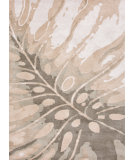 RugStudio presents Jaipur Rugs Coastal Living(r) Hand-Tufted Monstera Ch26 White Hand-Tufted, Good Quality Area Rug
