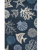 RugStudio presents Jaipur Rugs C. L. Hand-Tufted Aquarium Ch31 Dark Blue/Beige Hand-Tufted, Good Quality Area Rug