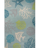 RugStudio presents Jaipur Rugs C. L. Hand-Tufted Aquarium Ch32 Sea Blue/Beige Hand-Tufted, Good Quality Area Rug