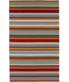 RugStudio presents Jaipur Rugs Coastal Living Indoor-Outdoor Band Together CI08 Deep Red/Deep Red Hand-Hooked Area Rug