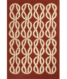 RugStudio presents Jaipur Rugs Coastal I-O Roped In Ci21 Red/Ivory Hand-Hooked Area Rug