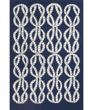 RugStudio presents Jaipur Rugs Coastal I-O Roped In Ci23 Blue/White Hand-Hooked Area Rug