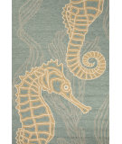 RugStudio presents Jaipur Rugs Coastal I-O Sea Horsing Around Ci24 Light Blue Hand-Hooked Area Rug
